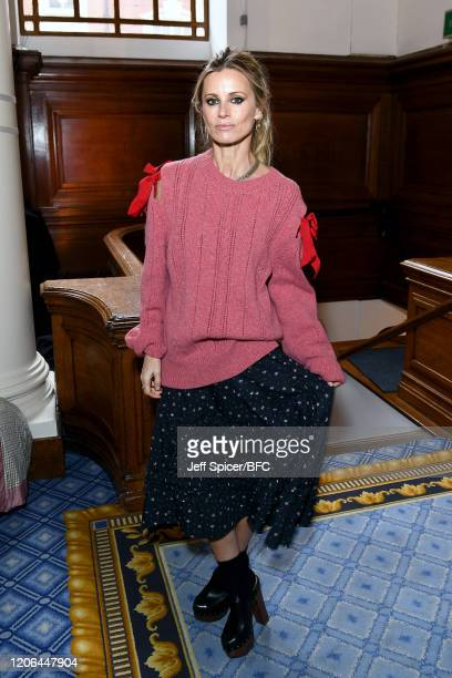 Laura Bailey attends the Molly Goddard show during London Fashion Week February 2020 on February 15 2020 in London England