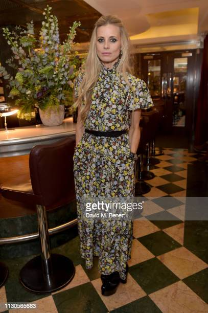 Laura Bailey attends the official Erdem London Fashion Week dinner at J Sheekey Atlantic Bar on February 18, 2019 in London, England.