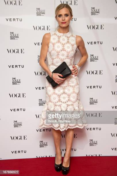 Laura Bailey attends the opening party for The Vogue Festival in association with Vertu at Southbank Centre on April 27 2013 in London England