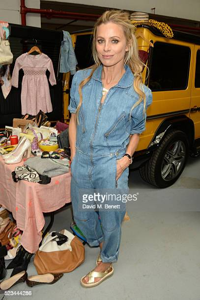 Laura Bailey attends the #SheInspiresMe Car Boot Sale presented by The Store and Brewer Street Car Park in aid of Women for Women International at...