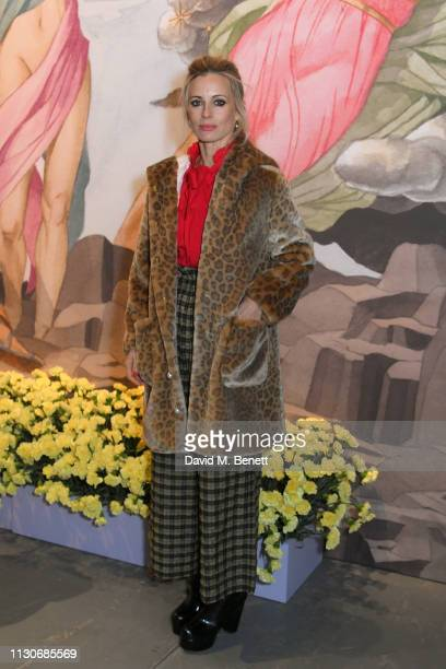 Laura Bailey attends the Shrimps show during London Fashion Week February 2019 at Ambika P3 on February 19 2019 in London England