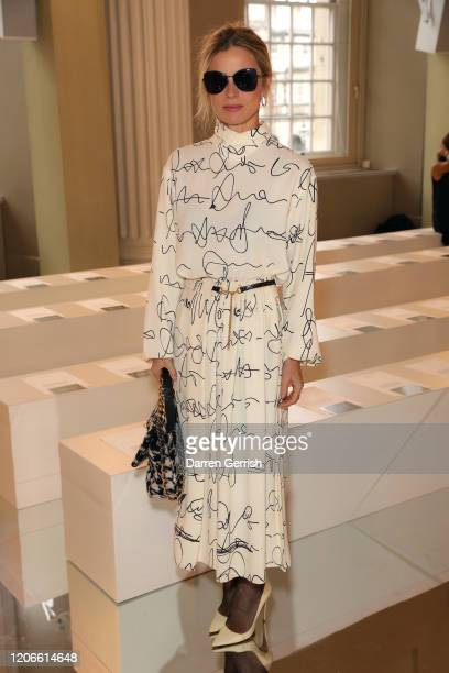 Laura Bailey attends the Victoria Beckham show during London Fashion Week February 2020 on February 16, 2020 in London, England.