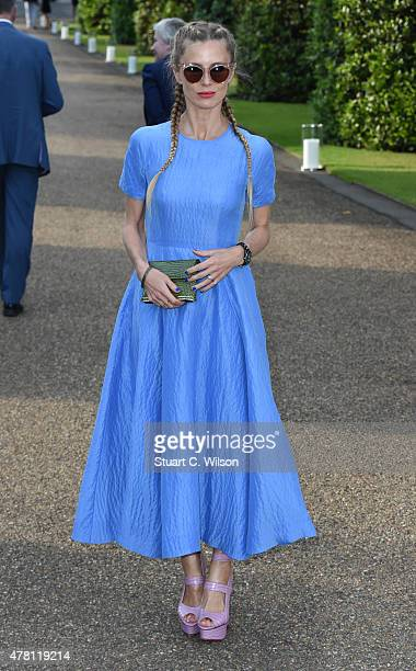 Laura Bailey attends the Vogue and Ralph Lauren Wimbledon party at The Orangery on June 22 2015 in London England