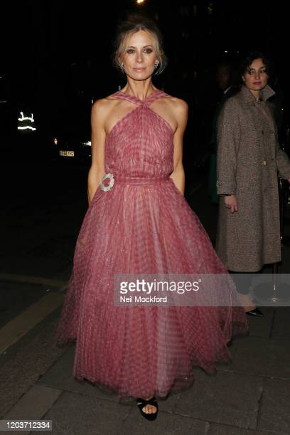 Laura Bailey attends the Vogue x Tiffany Fashion Film after party for the EE British Academy Film Awards 2020 at Annabel's on February 02 2020 in...