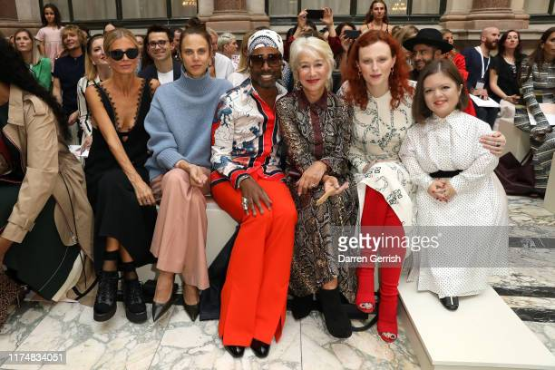 Laura Bailey Aymeline Valade Billy Porter Helen Mirren Karen Elson and Sinead Burke attend the Victoria Beckham show during London Fashion Week...