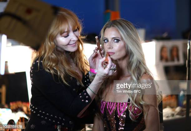 Laura Bailey backstage ahead of the Temperley London show during London Fashion Week September 2018 on September 15 2018 in London England