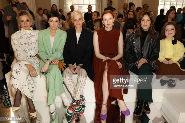 Laura Bailey Cassandra Grey Samantha Ronson Karen Elson Alexa Chung and Sinead Burke attend the Victoria Beckham show during London Fashion Week...