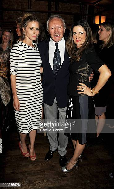 Laura Bailey, Chairman of the BFC Harold Tillman and Livia Firth attend the British Fashion Council's celebration of 5 years of Estethica sponsored...