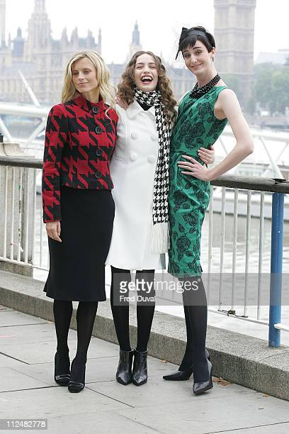 Laura Bailey Elizabeth Jagger and Erin O'Connor during Marks and Spencers TV Advert Launch and Photocall at London Eye in London Great Britain