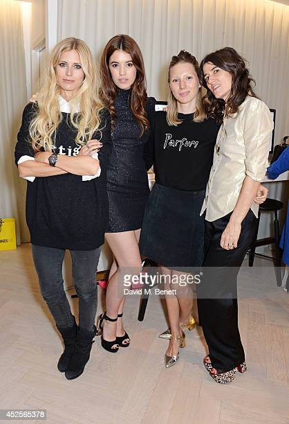Laura Bailey Gala Gordon Frances Costelloe and Bella Freud attend the launch of the Bella Freud Parfum frangrance at Harvey Nichols on July 23 2014...