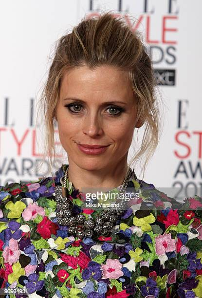 Laura Bailey in the Winner's room at the ELLE Style Awards 2010 at the Grand Connaught Rooms on February 22, 2010 in London, England.