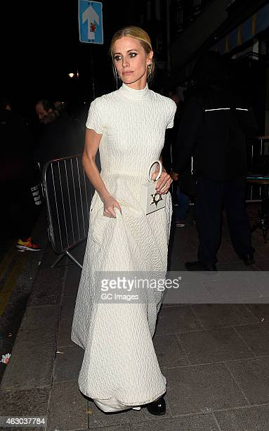 Laura Bailey leaves Little House's Bafta after party in Mayfair on February 8 2015 in London England