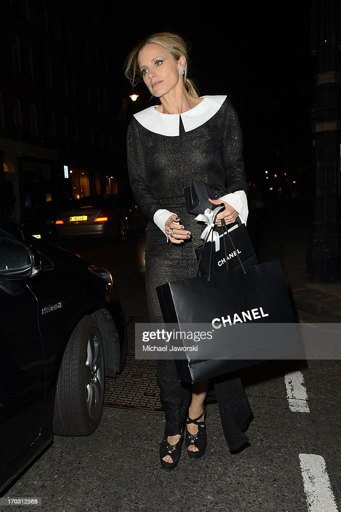 Laura Bailey leaving Harry's Bar after Chanel dinner. on June 10, 2013 in London, England.