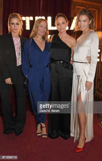 Laura Bailey Lucie de la Falaise Stella McCartney and Arizona Muse attend a private dinner hosted by NETAPORTER and Stella McCartney to celebrate the...