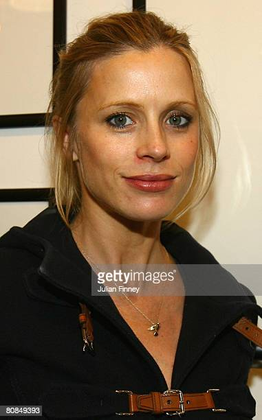 Laura Bailey model and actress poses for a photo during the Home Time' Exhibition at the Getty Images Gallery Private View on April 24 2008 in London...