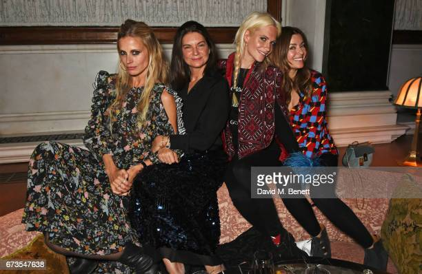 Laura Bailey Natalie Massenet Poppy Delevingne and Sara Macdonald attend the launch of The Ned London on April 26 2017 in London England