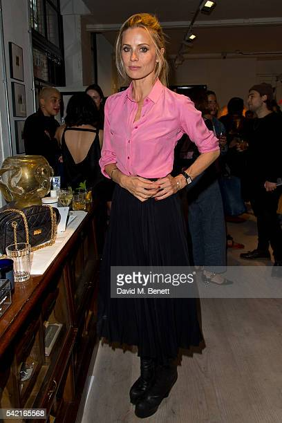 Laura Bailey poses for photographs as Araks and Alex Eagle alongside Billal Taright Laura Bailey Quentin Jones and Serafina Sama invite guests for...