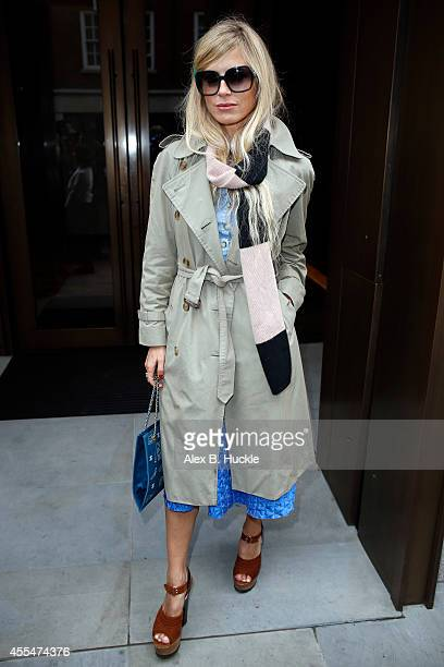 Laura Bailey seen arriving at 33 Davies Street for the Roksanda Ilincic show on September 15, 2014 in London, England. Photo by Alex Huckle/GC Images)