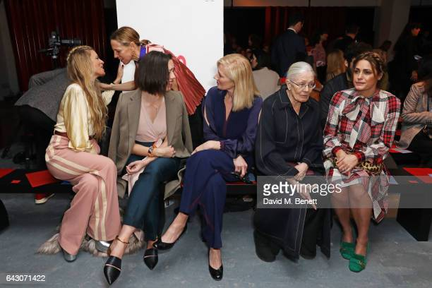 Laura Bailey Tiphaine de Lussy Rebecca Hall Joely Richardson Dame Vanessa Redgrave and Yasmin Le Bon attend the Roksanda show during the London...
