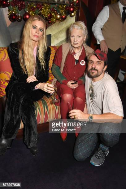 Laura Bailey Vivienne Westwood and Andreas Kronthaler attend the Nick Cave The Bad Seeds x The Vampires Wife x Matchesfashioncom party at Loulou's on...