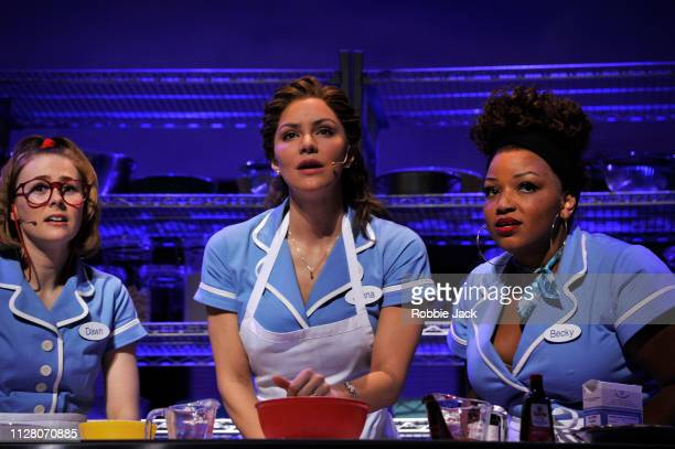 Laura Baldwin as Dawn Katharine McPhee as Jenna and Marisha Wallace as Becky in Jessie Nelson's Waitress directed by Diane Paulus at The Adelphi...