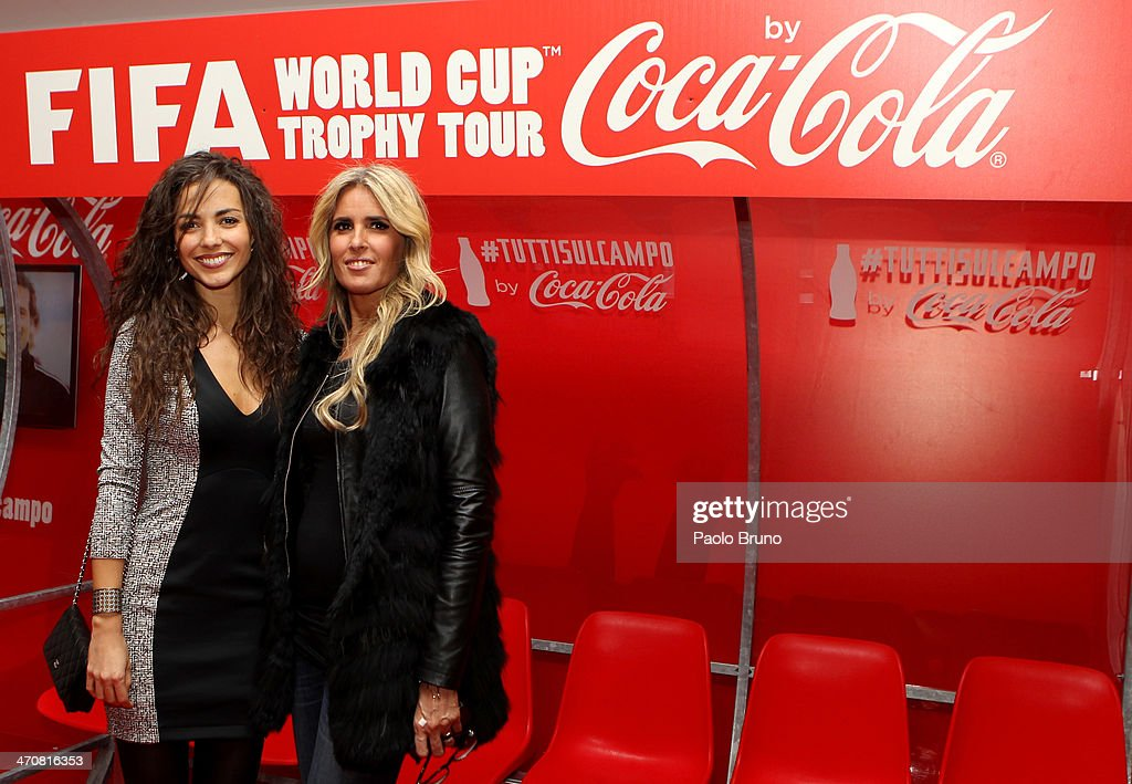 Laura Barriales and Tiziana Rocca attend a party during day two of the FIFA World Cup Trophy Tour on February 20, 2014 in Rome, Italy.
