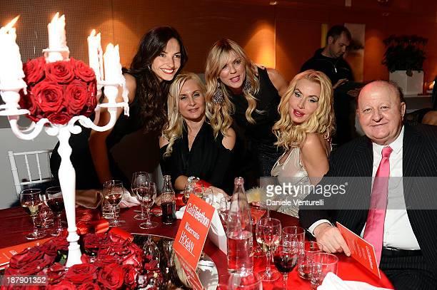 Laura Barriales, Loredana De Nardis, Matilde Brandi, Massimo Boldi and Valeria Marini attend the Gala Telethon 2013 Roma during The 8th Rome Film...