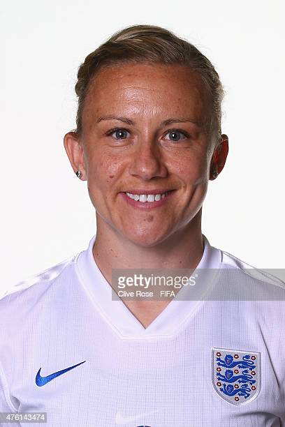 Laura Basset of England poses during a FIFA Women's World Cup portrait session on June 6 2015 in Moncton Canada