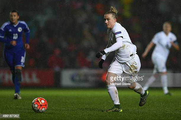 Laura Bassett of England during the UEFA Women's Euro 2017 Qualifier match between England and Bosnia and Herzegovina at Ashton Gate on November 29...