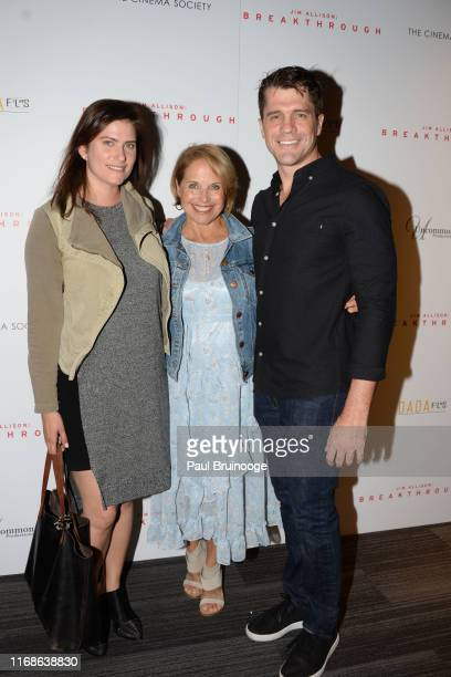 Laura Batchelor Katie Couric and Jeff Wadlow attend Dada Films With The Cinema Society Host The Premiere Of Jim Allison Breakthrough at The Landmark...