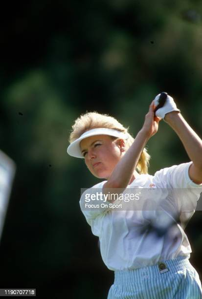 Laura Baugh in action during the Women's US Open Golf Championship circa July 1987 at the Plainfield Country Club in Edison New Jersey