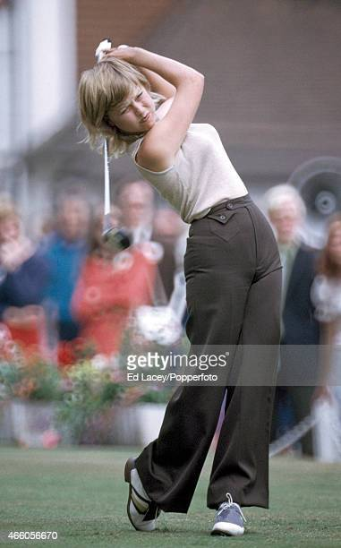 Laura Baugh of the United States in action during the Colgate European Women's Open Golf Championship at Sunningdale on 7th August 1974