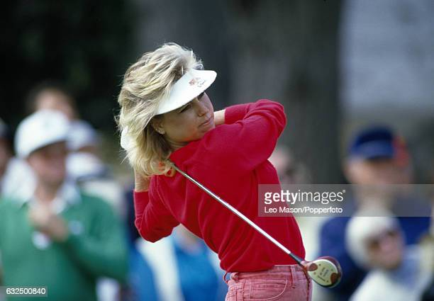 Laura Baugh of the USA in action during the GNA/Glendale Federal Classic golf tournament at Oakmont Country Club in Glendale California circa March...