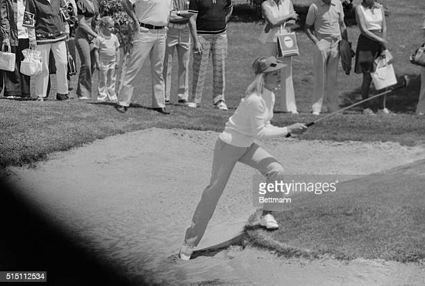Laura Baugh used a wood to blast out off the sand during the second round of the Colgate Dinah Shore Winners Circle tournament in Palm Springs Laura...