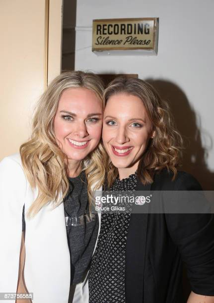 Laura Bell Bundy and Jessie Mueller pose at the after party for 'Double Standards' a concert benefitting womans rights heath and empowerment funding...