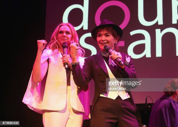 Laura Bell Bundy and Linda Hart perform in 'Double Standards' a concert benefitting womans rights heath and empowerment funding the ACLU National...