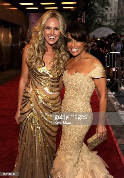 Laura Bell Bundy and Paula Abdul attends the 64th Annual Tony Awards at Radio City Music Hall on June 13, 2010 in New York City.