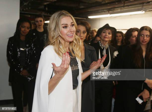 Laura Bell Bundy and the cast backsatage at 'Double Standards' a concert benefiting womans rights heath and empowerment funding the ACLU National...