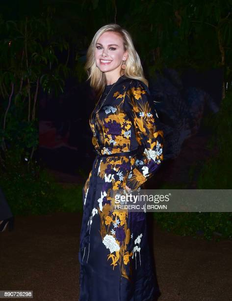 Laura Bell Bundy arrives for the premiere of 'Jumanji Welcome to the Jungle' in Hollywood California on December 11 2017 / AFP PHOTO / FREDERIC J...