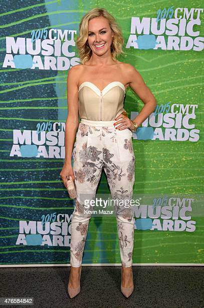 Laura Bell Bundy attends the 2015 CMT Music awards at the Bridgestone Arena on June 10 2015 in Nashville Tennessee