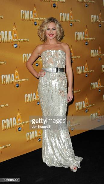 Laura Bell Bundy attends the 44th Annual CMA Awards at the Bridgestone Arena on November 10 2010 in Nashville Tennessee