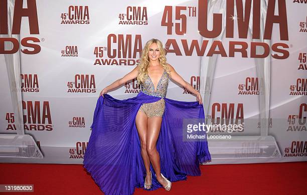 Laura Bell Bundy attends the 45th annual CMA Awards at the Bridgestone Arena on November 9 2011 in Nashville Tennessee