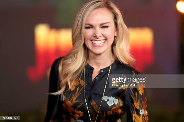 Laura Bell Bundy attends the premiere of Columbia Pictures' 'Jumanji Welcome To The Jungle' on December 11 2017 in Hollywood California