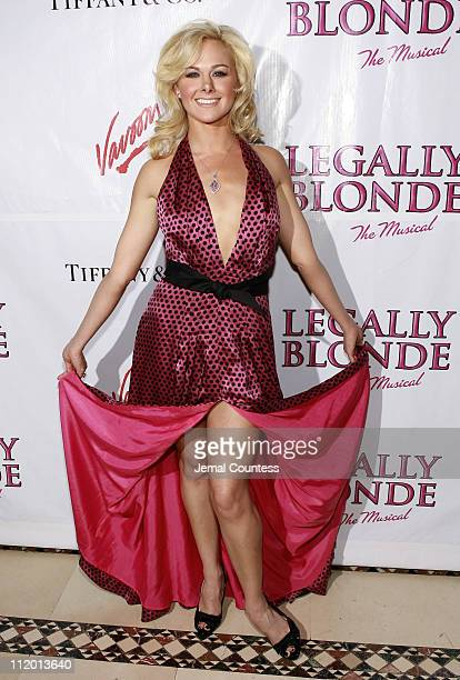 Laura Bell Bundy during Legally Blonde The Musical Opening Night After Party Hosted by Vavoom at Cipriani's in New York City New York United States