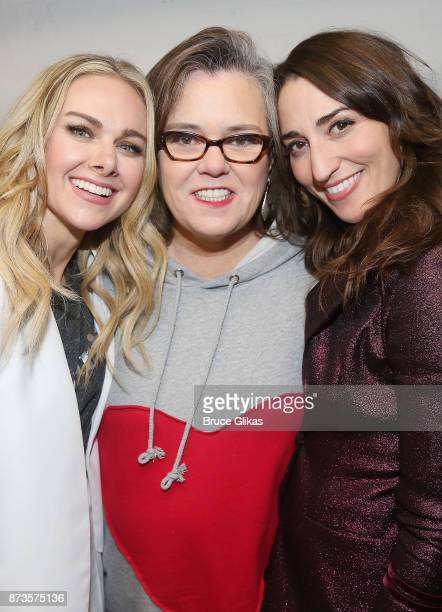 Laura Bell Bundy Rosie O'Donnell and Sara Bareilles pose backsatage at 'Double Standards' a concert benefitting womans rights heath and empowerment...