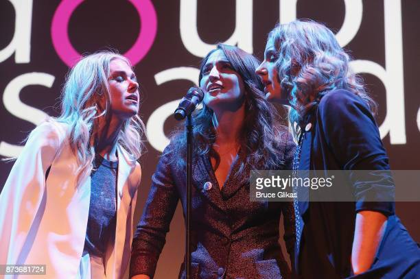 Laura Bell Bundy Sara Bareilles and Jessie Mueller perform in 'Double Standards' a concert benefitting womans rights heath and empowerment funding...