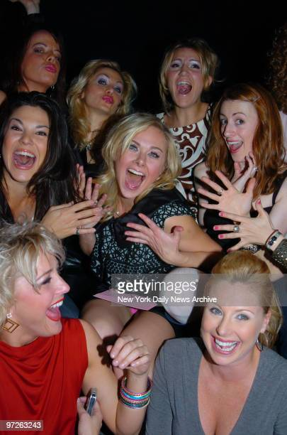 Laura Bell Bundy star of the Broadway musical Legally Blonde is joined by fellow cast members at the W hotel in Times Square to celebrate her 26th...