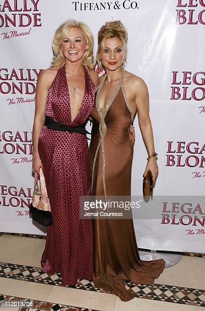 Laura Bell Bundy with Orfeh during Legally Blonde The Musical Opening Night After Party Hosted by Vavoom at Cipriani's in New York City New York...