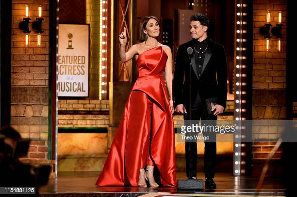 Laura Benanti and Anthony Ramos present an award onstage during the 2019 Tony Awards at Radio City Music Hall on June 9 2019 in New York City