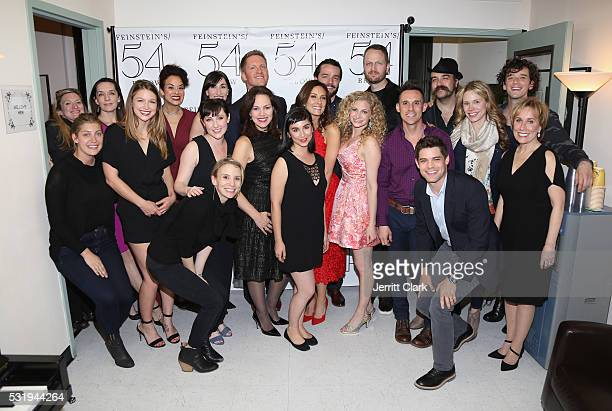 Laura Benanti and friends celebrate her at the We Love Her Celebration Of Broadway And TV Star Laura Benanti at 54 Below on May 16 2016 in New York...